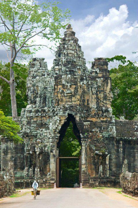 Fotobewijs; je kunt fietsend door Angkor Wat