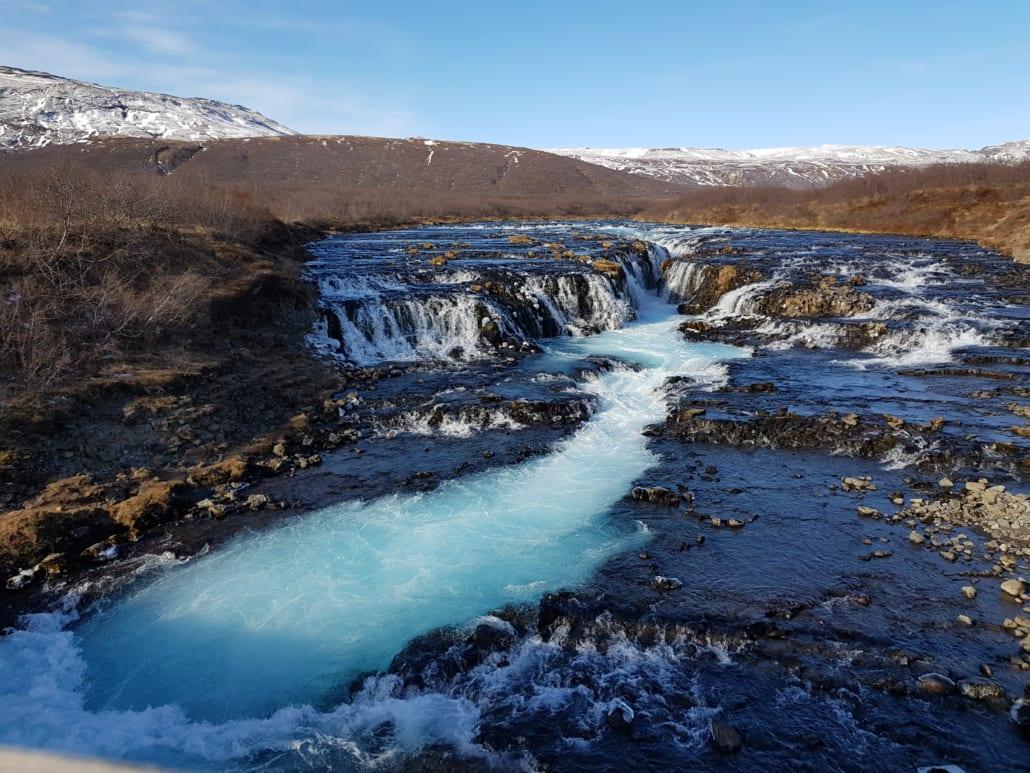 Brúarfoss in IJsland