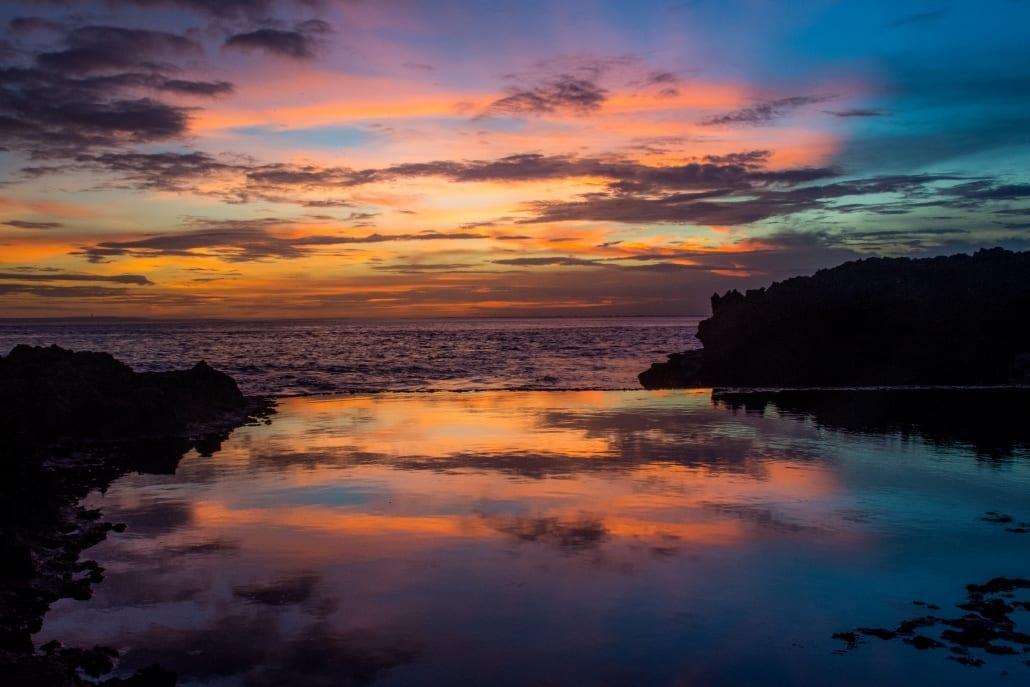 De zonsondergangen op Bali; ideale achtergrond tijdens wat soulsearching.