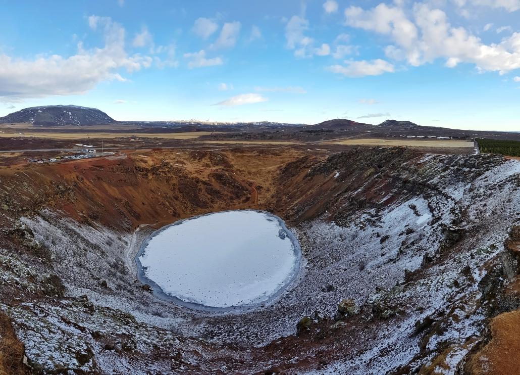 Kratermeer Kerið in IJsland