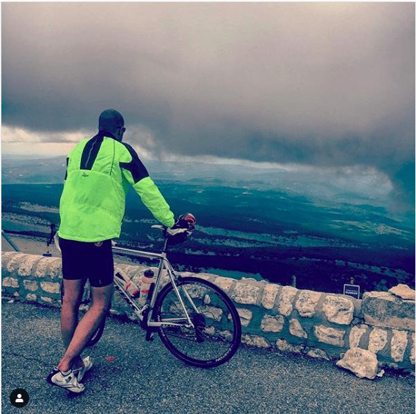 Bovenop de Mont Ventoux: trotser wordt 't niet.
