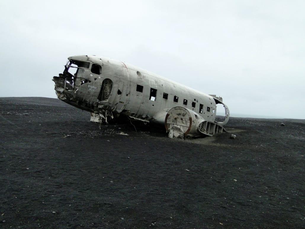 Vliegtuigwrak Sólheimasandur in Ijsland