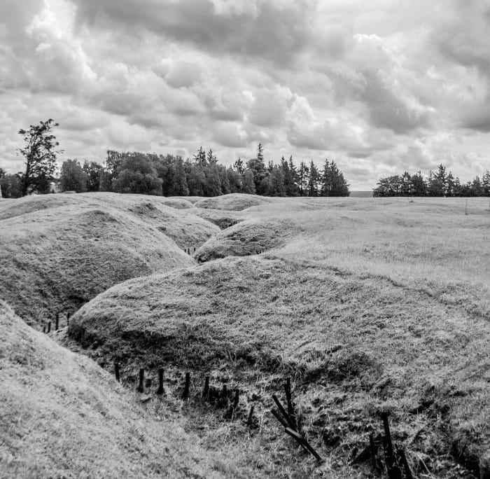 De Duitse loopgraven van Beaumont-Hamel