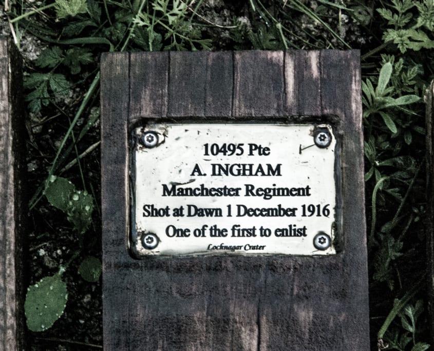 Herdenkingstekens aan gevallen soldaten