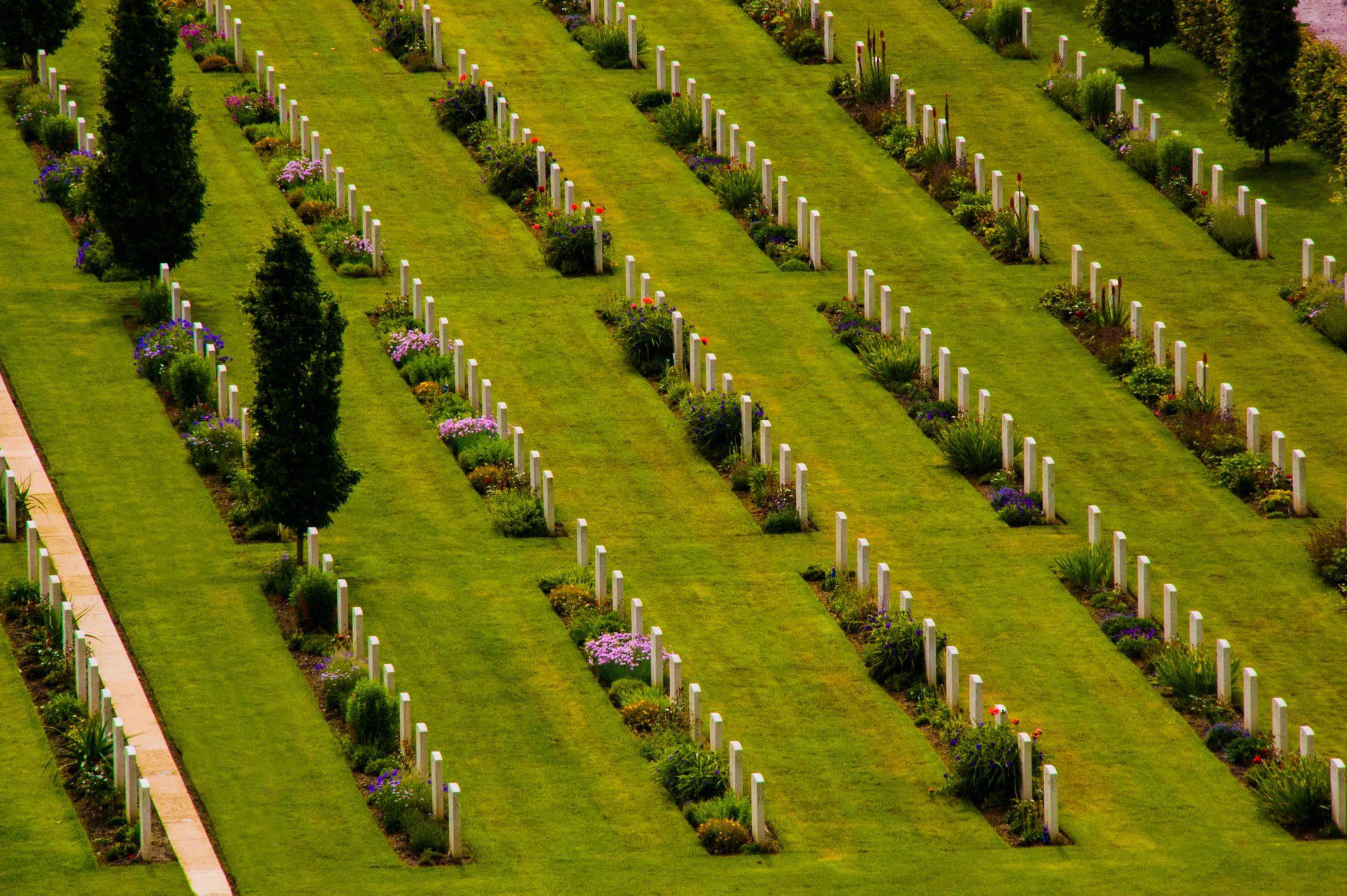 De gevallen ANZAC-soldaten van de Slag aan de Somme