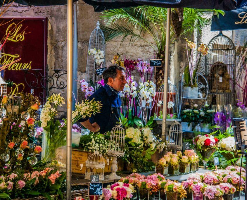 Ook de Somme: kleurrijke marktkraampjes in Rouen.