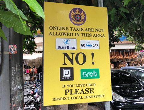 Ubud wifi taxi
