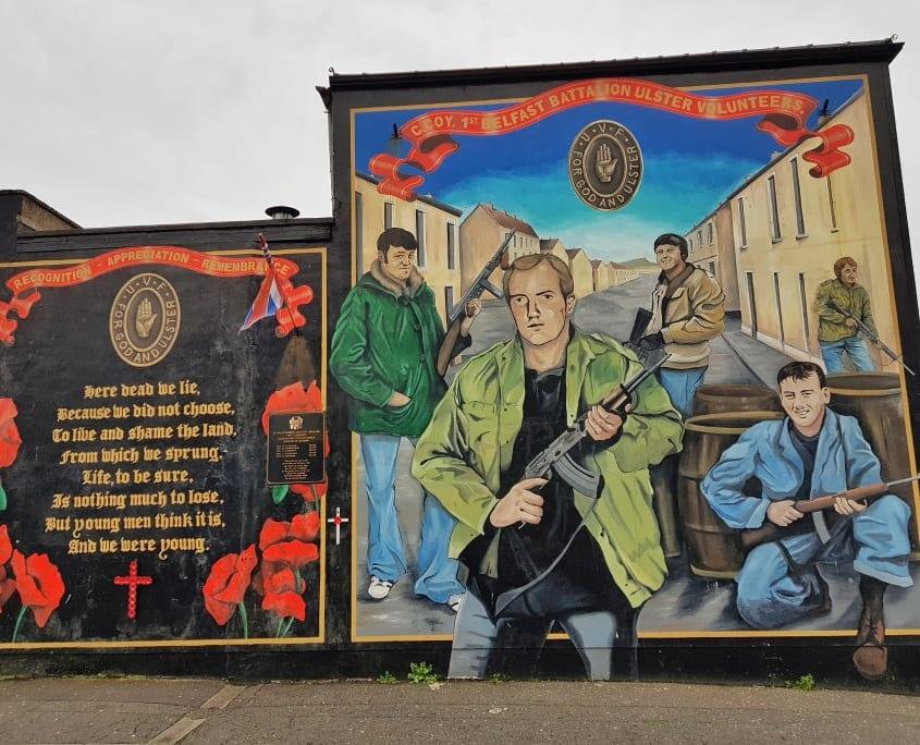 Mural bij Shankill Road
