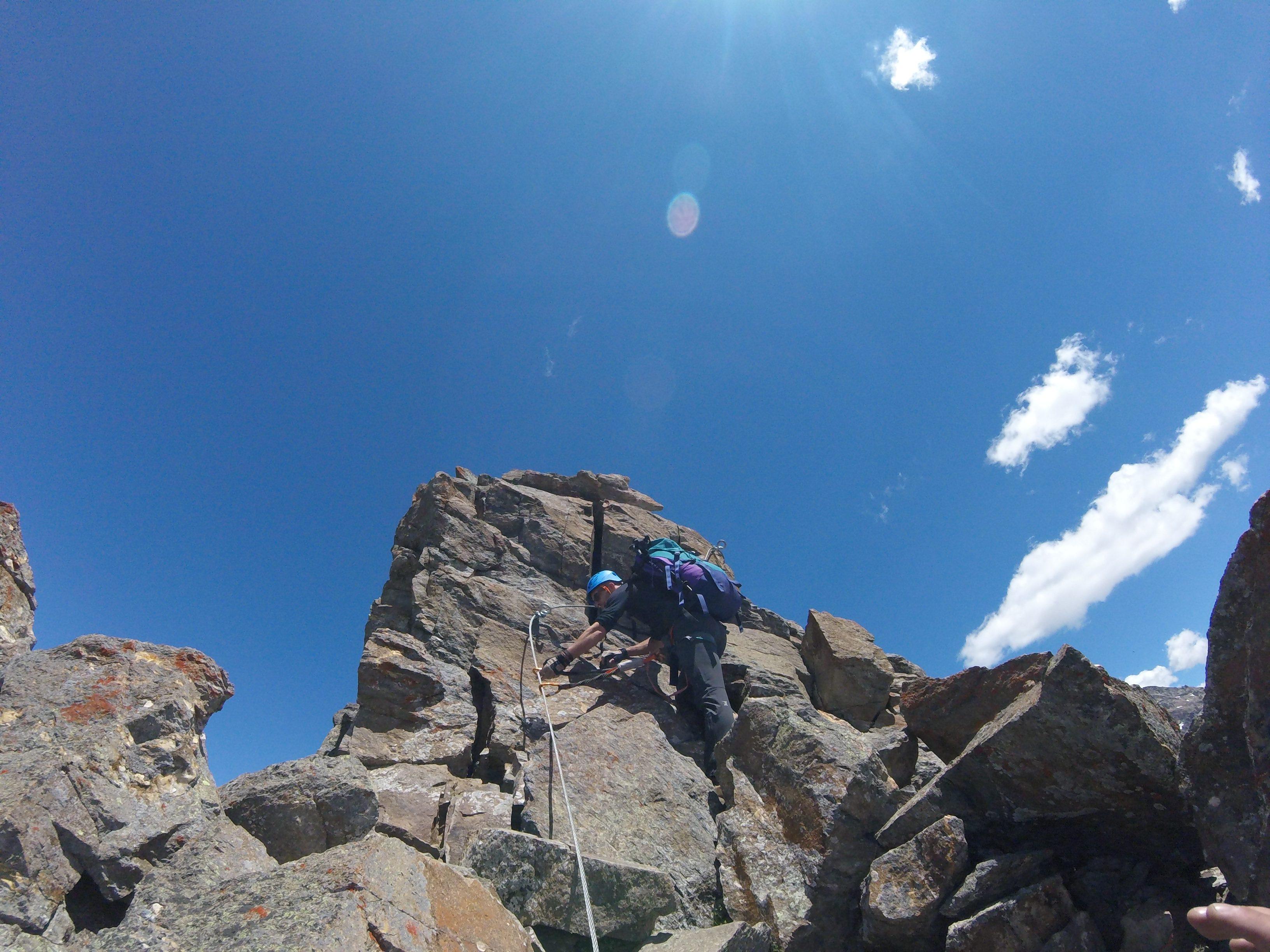 Op weg naar de top van de Monte Emilius