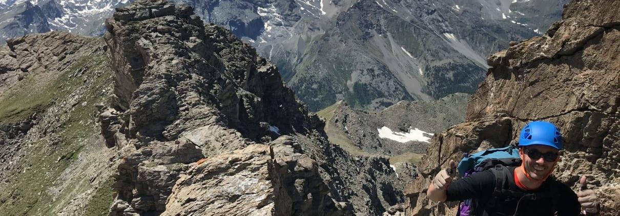 Via Ferrata Monte Emilius - op de top