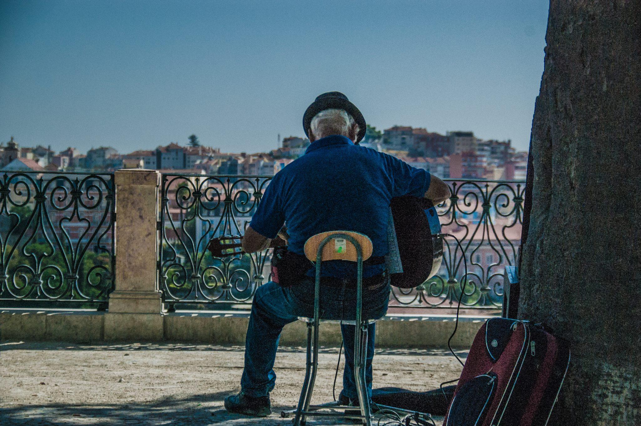 Lissabon: niet goed te zien op deze foto, maar absoluut een van de steden met stranden!