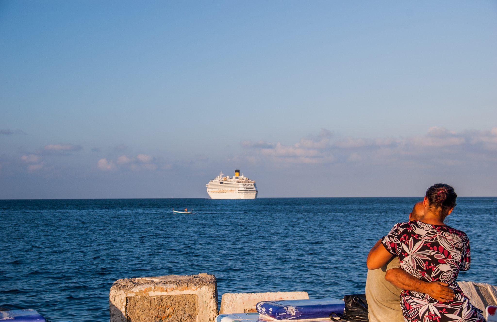 Vanaf het Foro Italico van Palermo heb je een mooi uitzicht over de Middellandse zee.