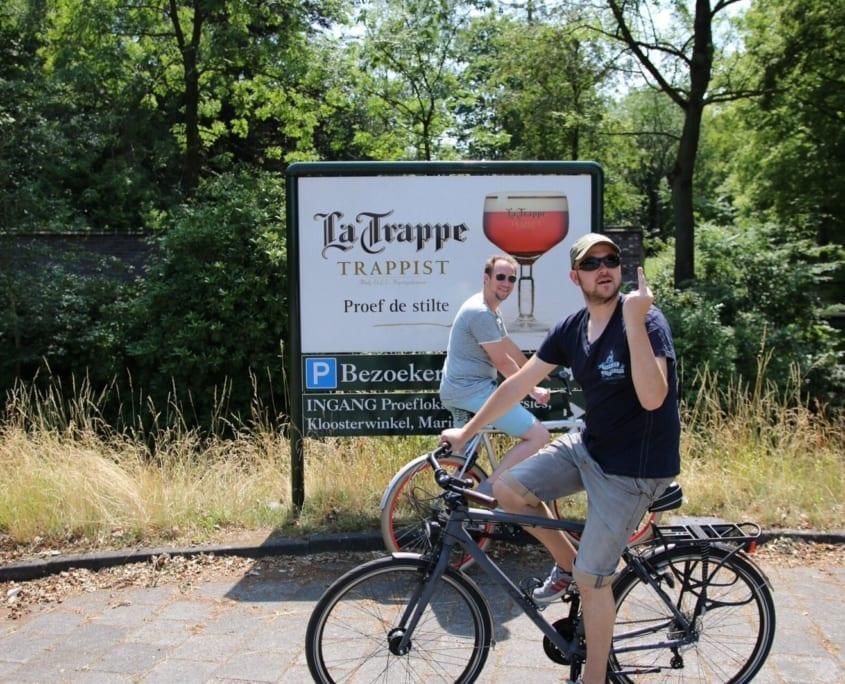 Eerste stop: het trappistenklooster van La Trappe!