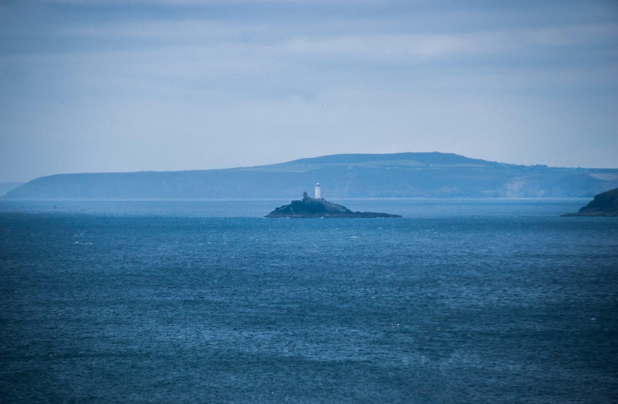 Het zicht vanuit St. Ives op de Keltische Zee