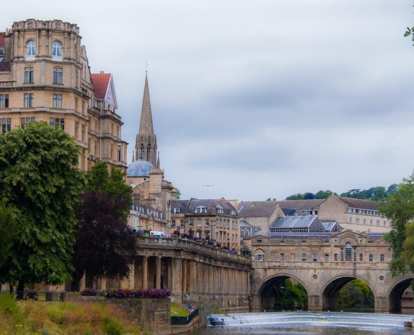 Het oude centrum van Bath