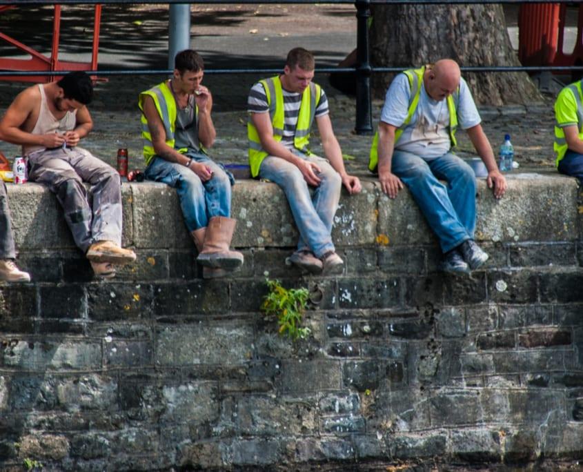 Rondhangen in de haven van Bristol