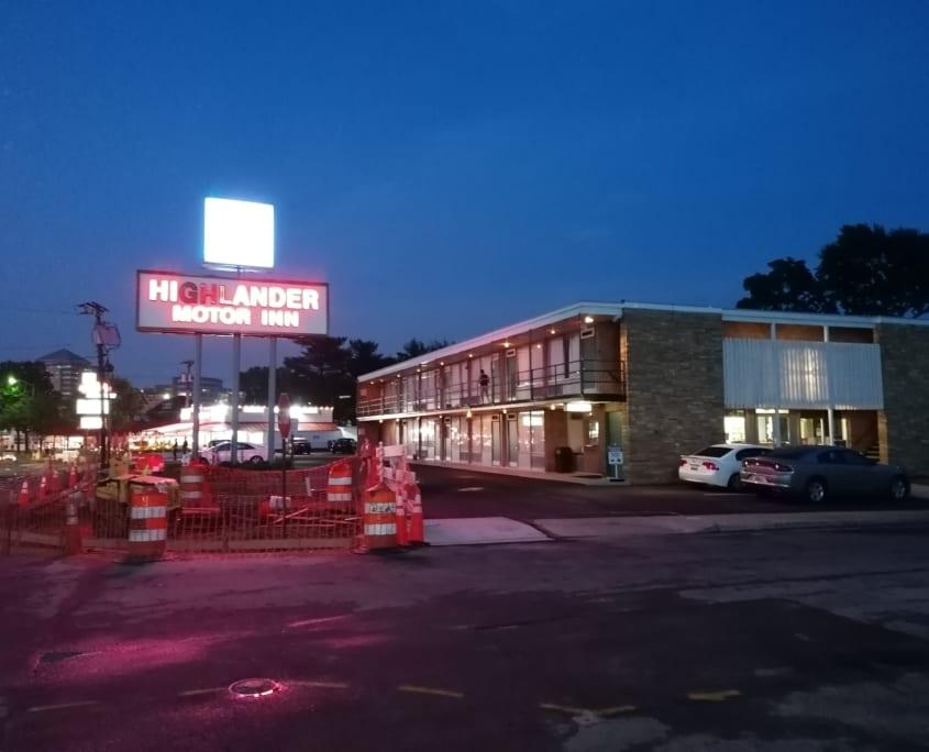 Een motel zoals een motel moet zijn in de VS