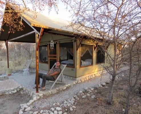Overnachten in een safaritent