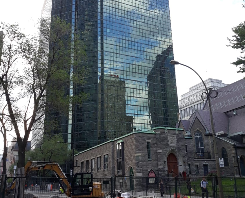 Hoogbouw in Downtown Montreal
