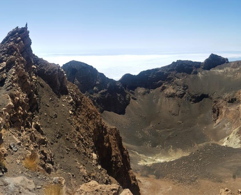 De oude krater van Pico do Fogo