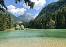 slovenië: bergmeer bij Jezersko