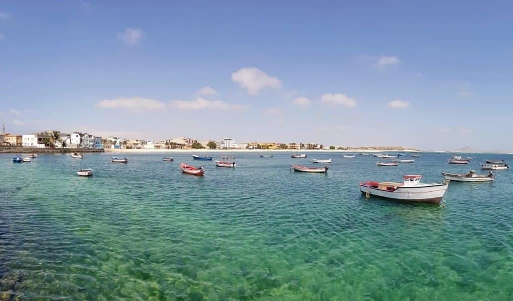 Vissersbootjes bij Sal Rei