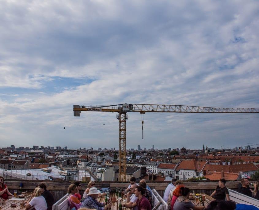 Een nogal gemankeerd uitzicht over Berlijn vanuit Klunkerkranich