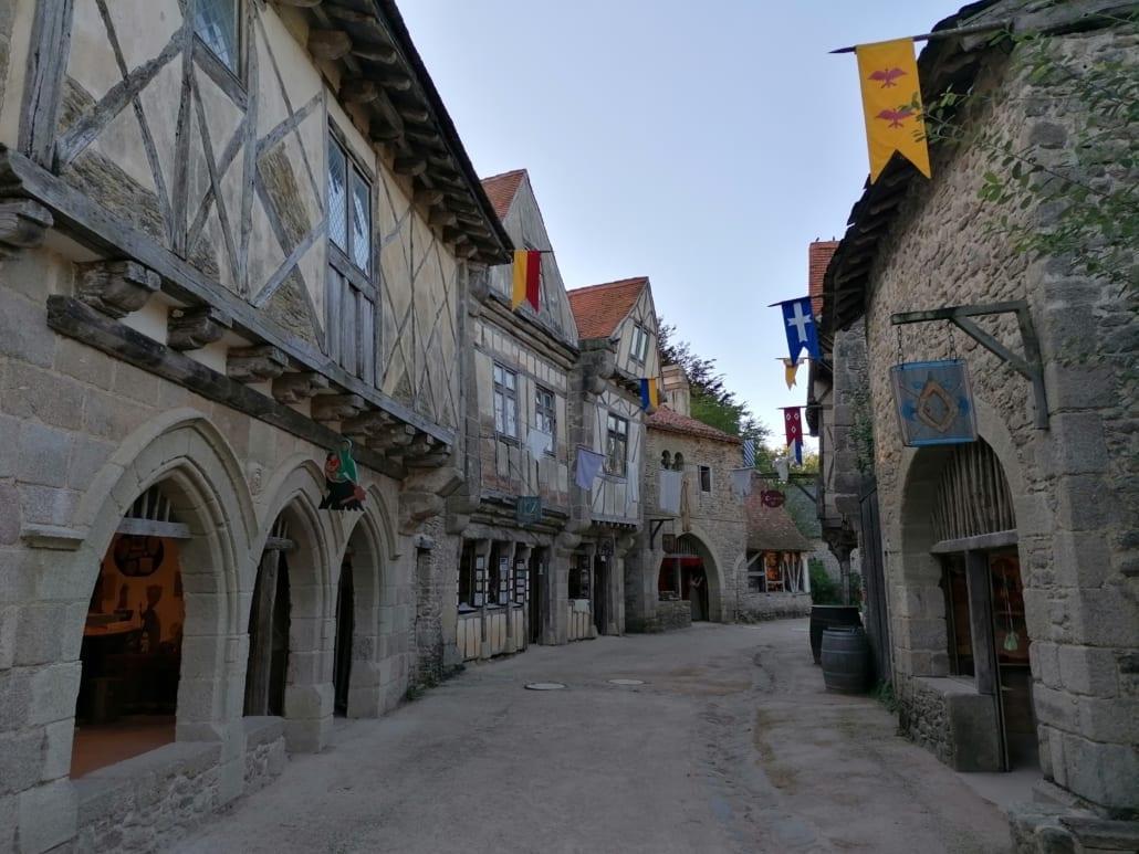 Straatje in het Middeleeuwse dorp