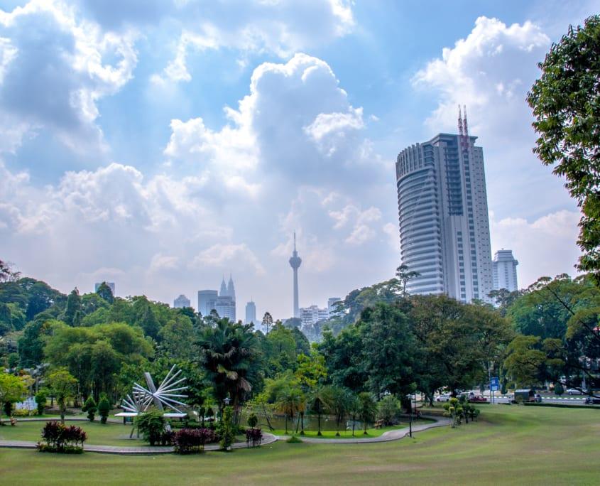 De skyline van Kuala Lumpur