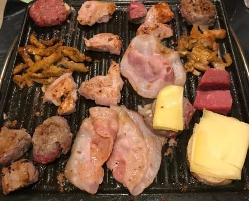 Vlees op de bakplaat