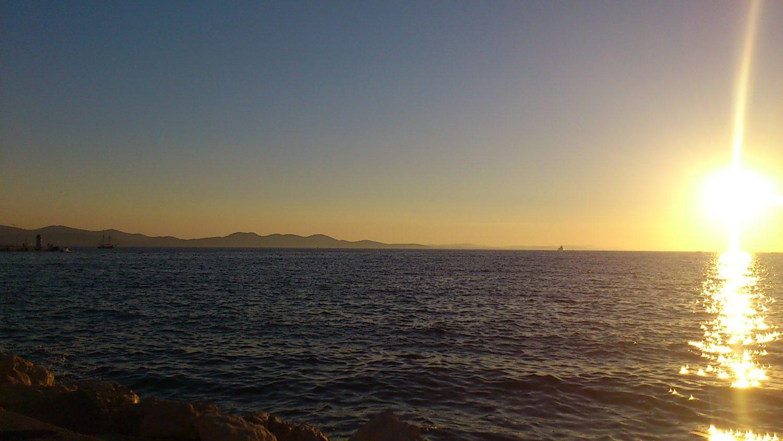 De zon zien zakken bij Zadar