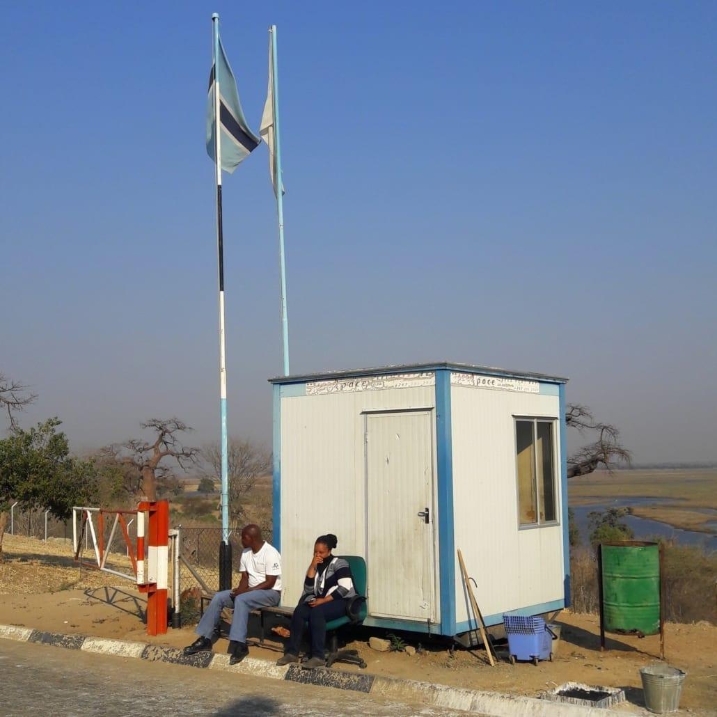 Consternatie alom bij de grensovergang van Botswana