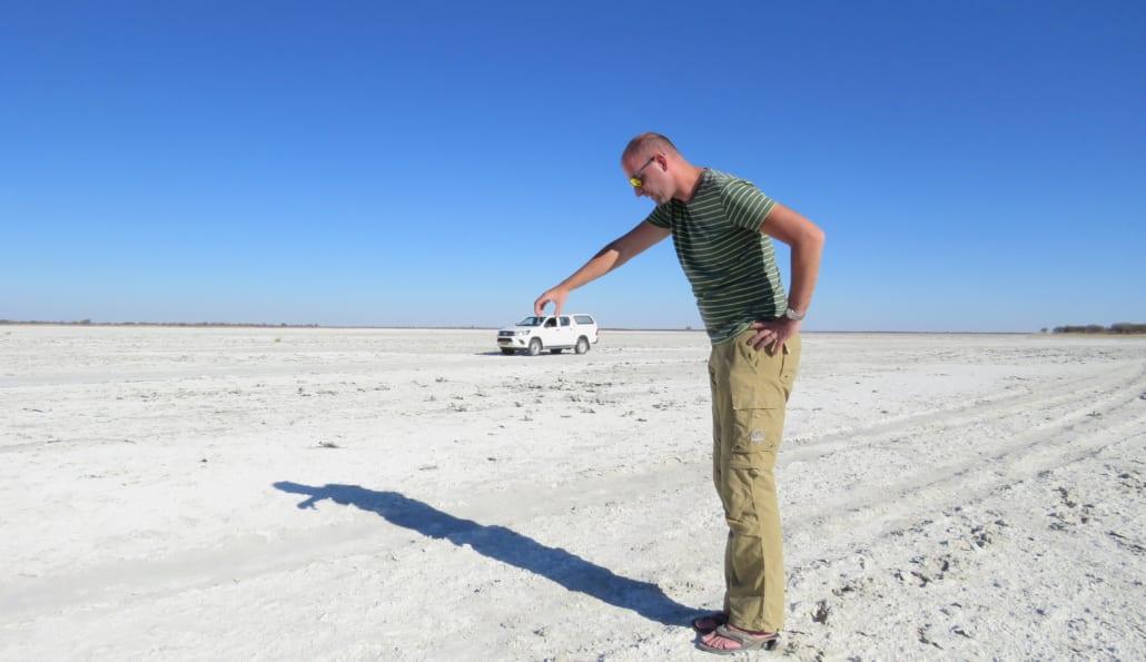 Zoutpanfotoklassieker in Botswana