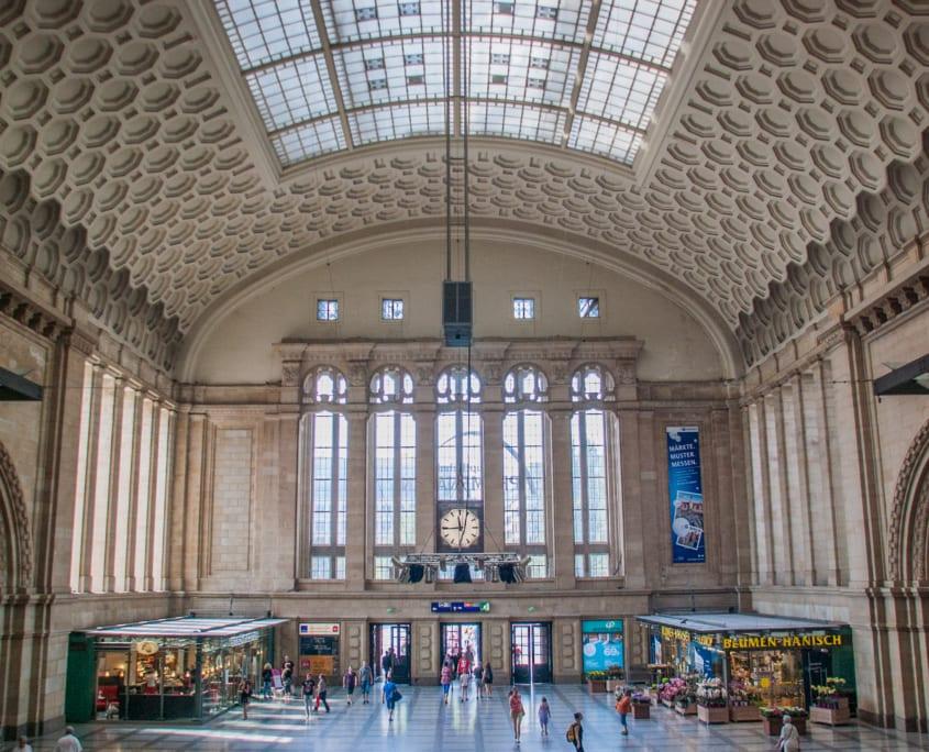 Het fraaie Leipzig Centraal Station