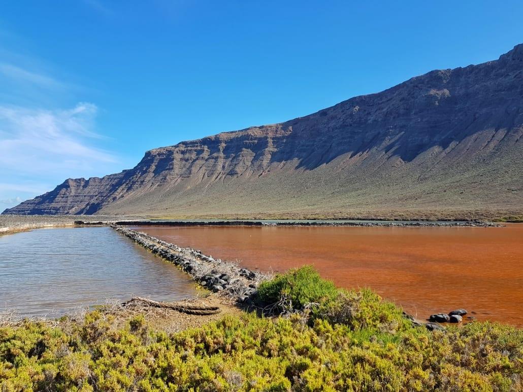 Salinas del Río en de Risco de Famara op Lanzarote