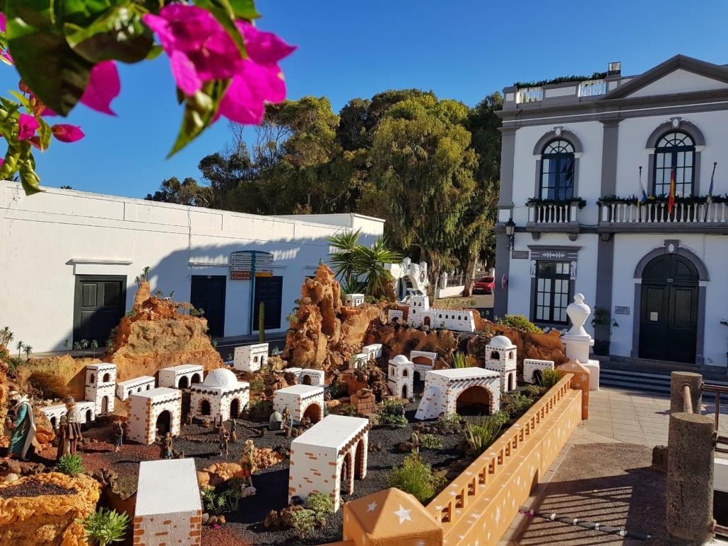 Kerststal in Lanzarote-stijl in Haria