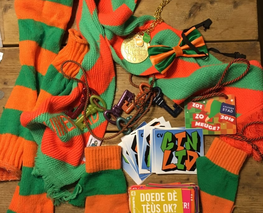 Groen oranje accessoires
