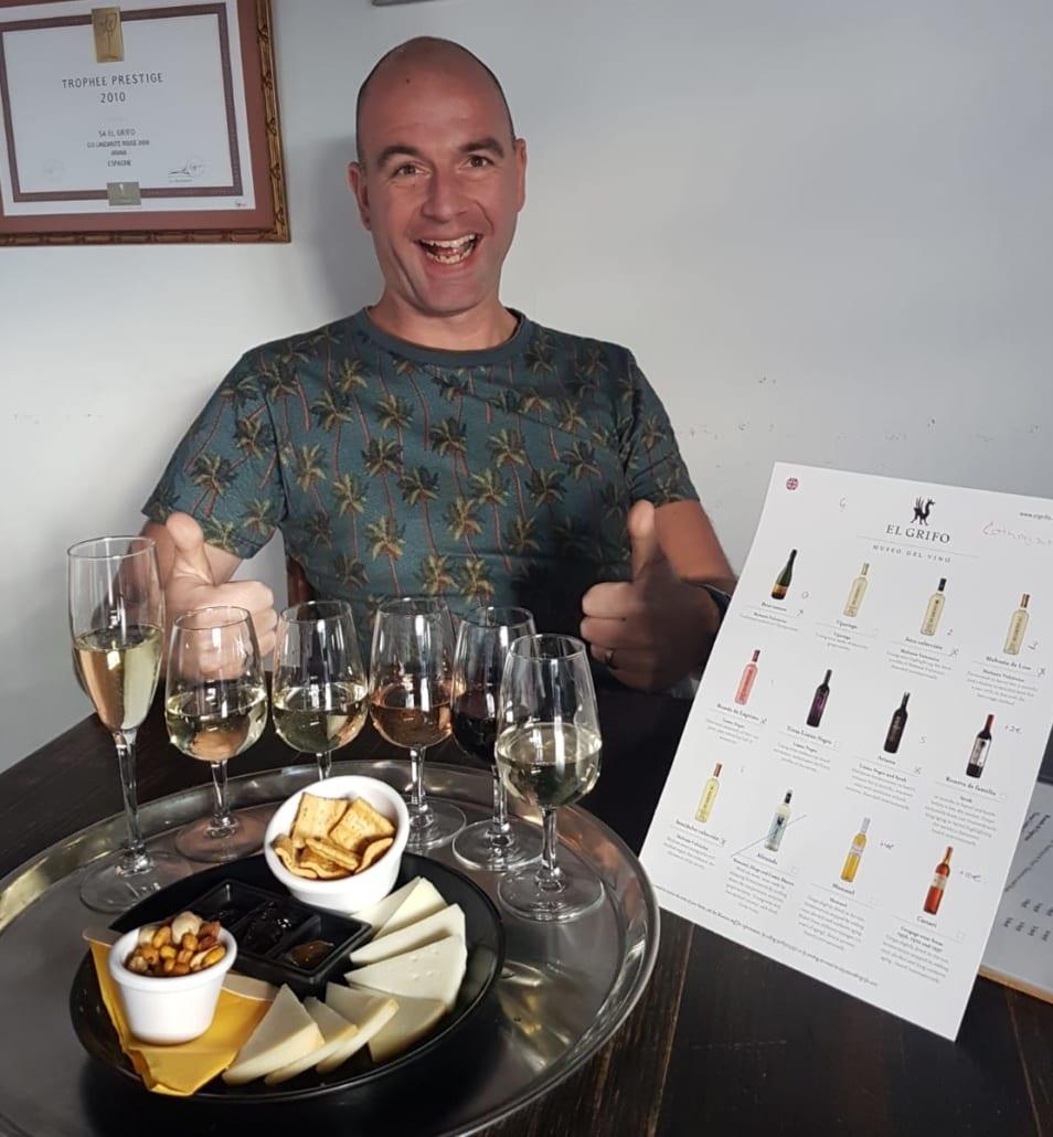 Wijnproeverij bij El Grifo
