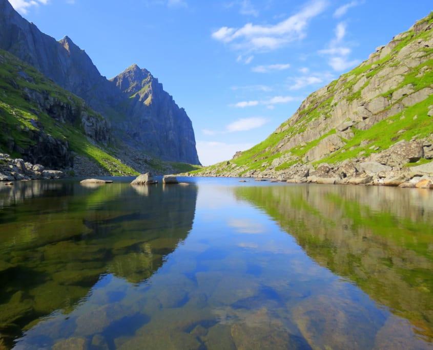 Ågotvatnet op de Lofoten
