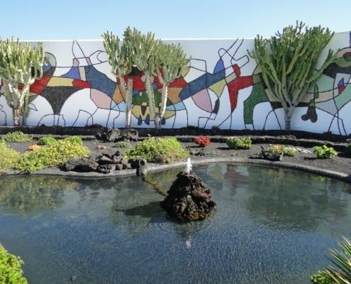 Tuin van Fundación César Manrique op Lanzarote
