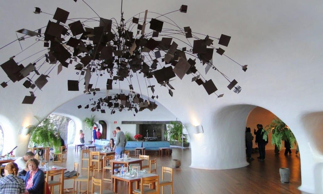 Interieur van Mirador del Río op Lanzarote
