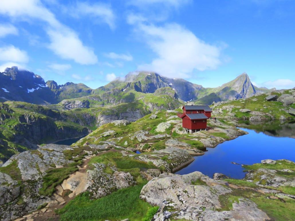 Munkebu Hytte op de Lofoten