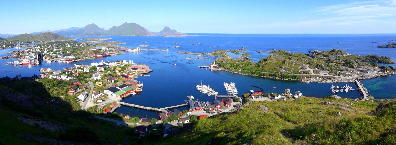 Omgeving van Ballstad op de Lofoten