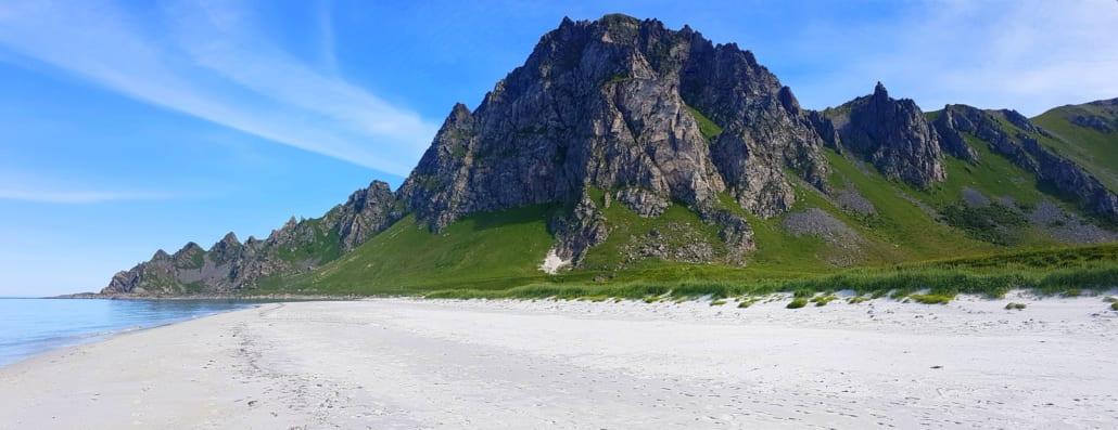 Strandwandelen bij Bleik op de Vesterålen