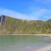 Høyvika strand op de Vesterålen