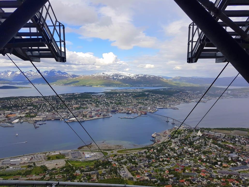 Uitzicht over Tromsø