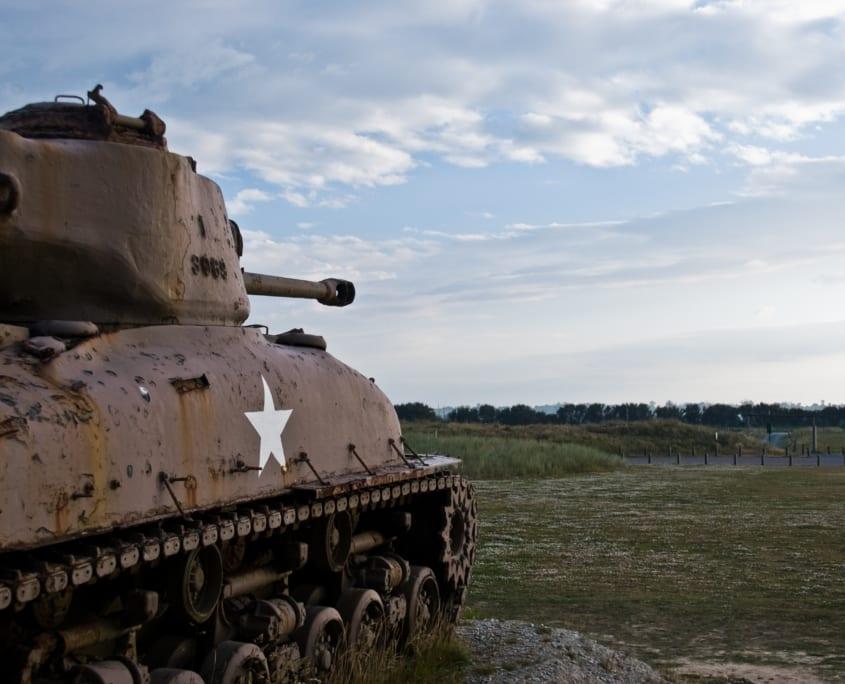 Sherman tank op Utah Beach