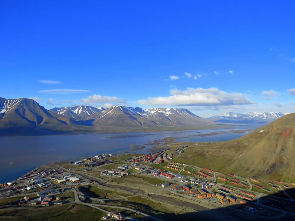 Longyearbyen op Spitsbergen