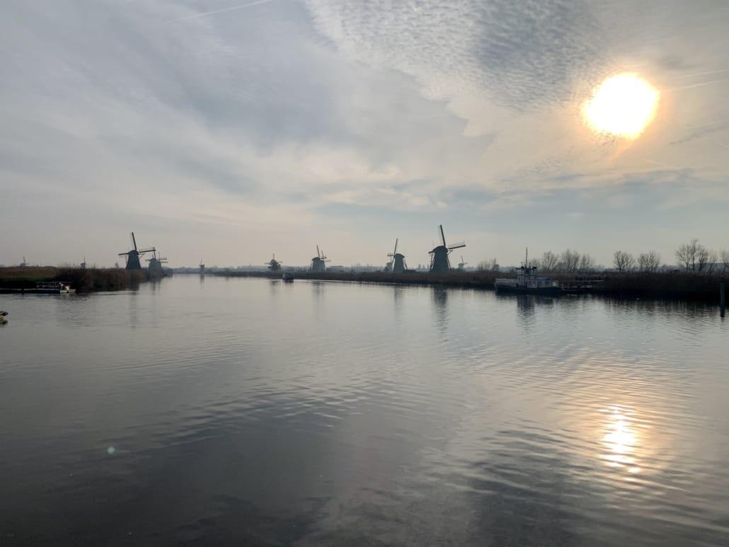 De molens in Kinderdijk