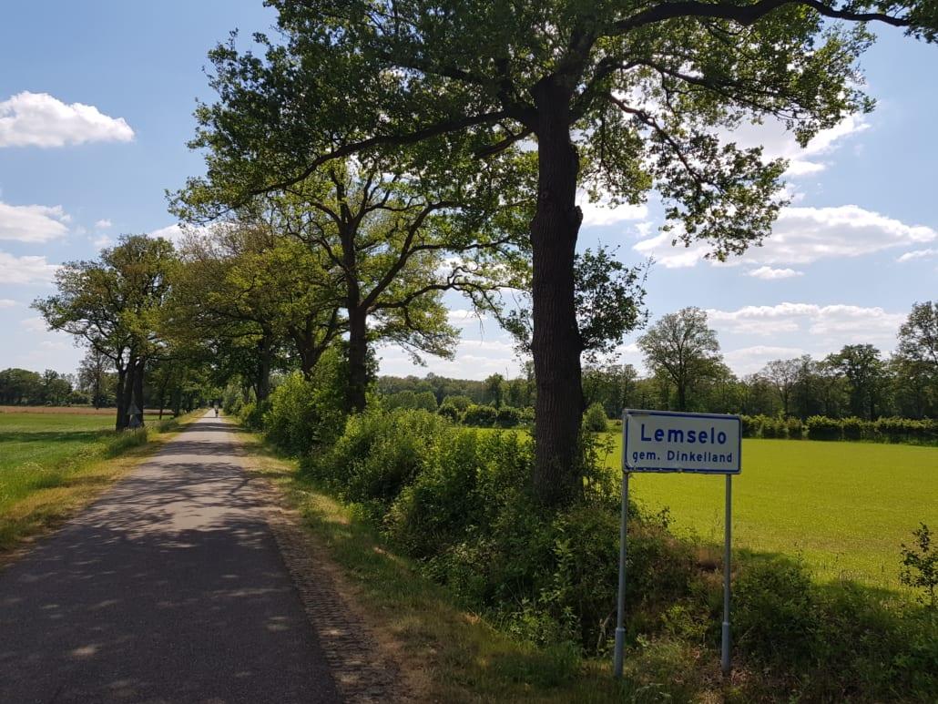 Buurtschap Lemselo in Twente: geen huis te zien